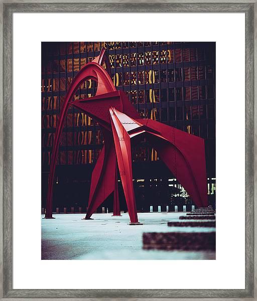 Flamingo A La Plancha Framed Print