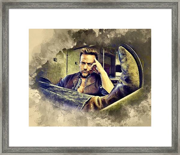 Flanery And His Cowboy Boot Framed Print