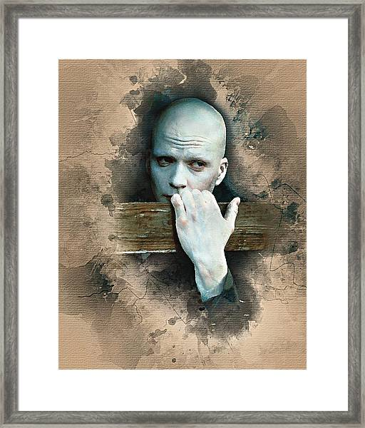 Flanery As Powder Watercolor  Framed Print
