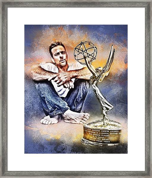 Flanery Won Emmy Framed Print