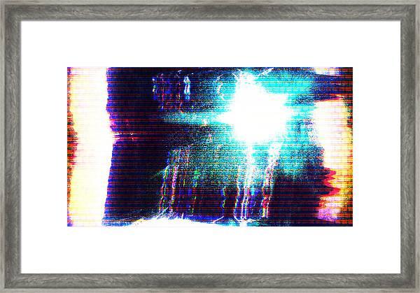Flashlight Framed Print