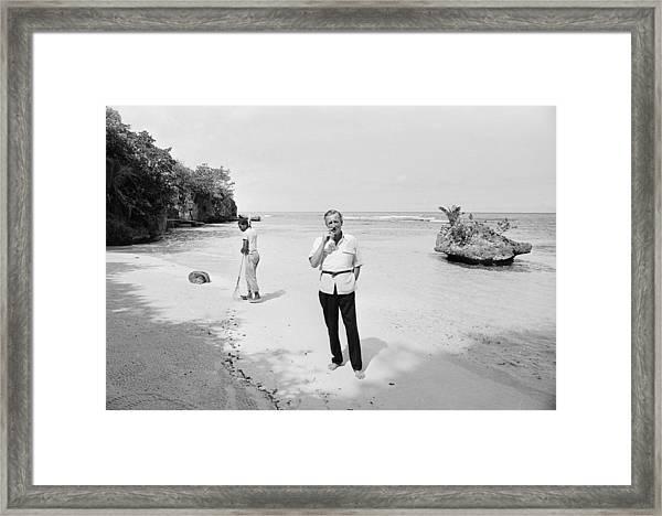 Fleming In Jamaica Framed Print