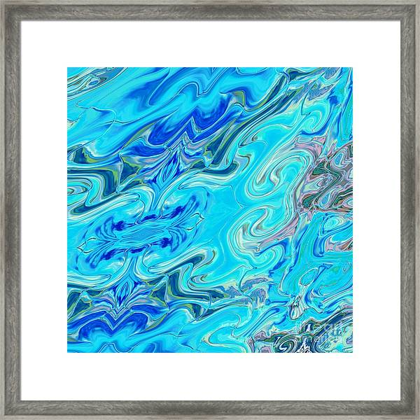 Framed Print featuring the digital art Fleurs Dans Les Vagues by A zakaria Mami