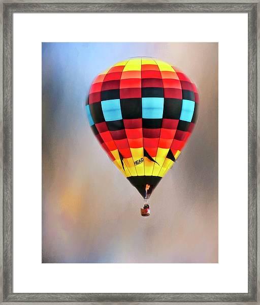 Flight Of Fantasy, Hot Air Balloon Framed Print