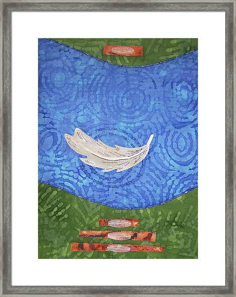 Floating Feather Framed Print