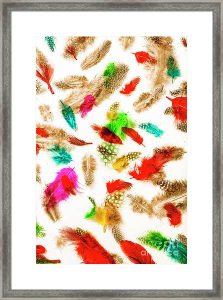 Floating In Colourful Abstract Framed Print