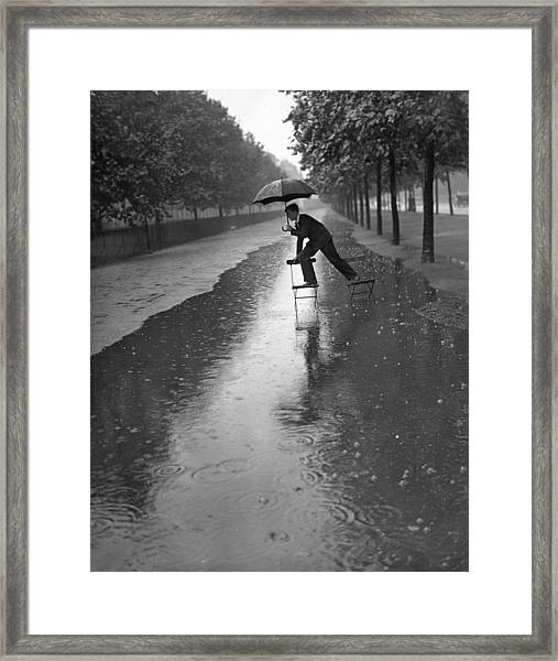 Flooded Mall Framed Print