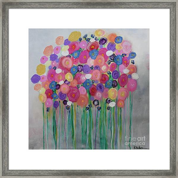 Floral Balloon Bouquet Framed Print