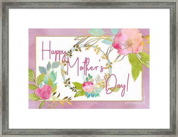 Floral Mother's Day Art Framed Print