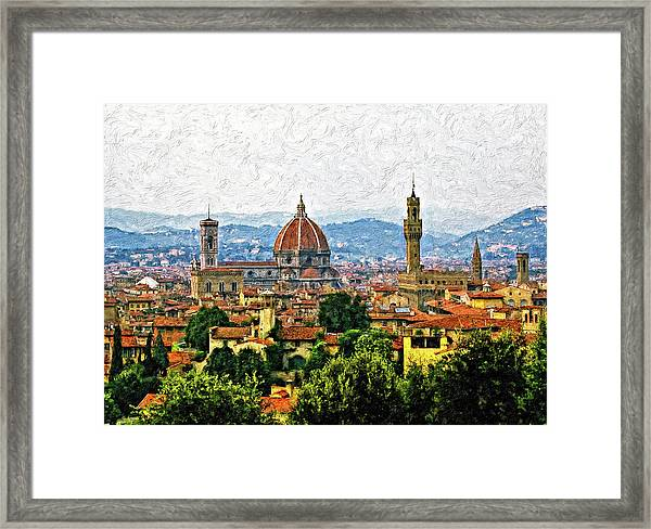 Florence Impasto Framed Print