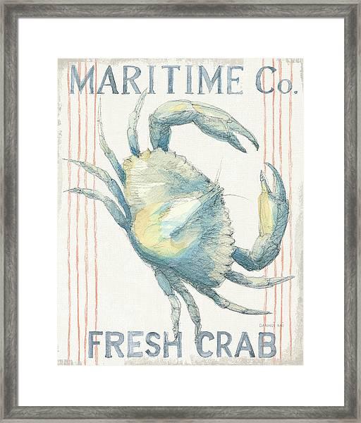 Floursack Nautical IIi Framed Print by Danhui Nai