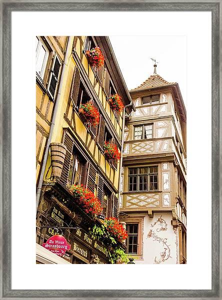Flower Boxes Strasbourg Framed Print