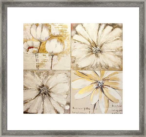 Flower Paintings Framed Print