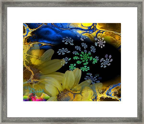Flower Power In The Modern Age Framed Print
