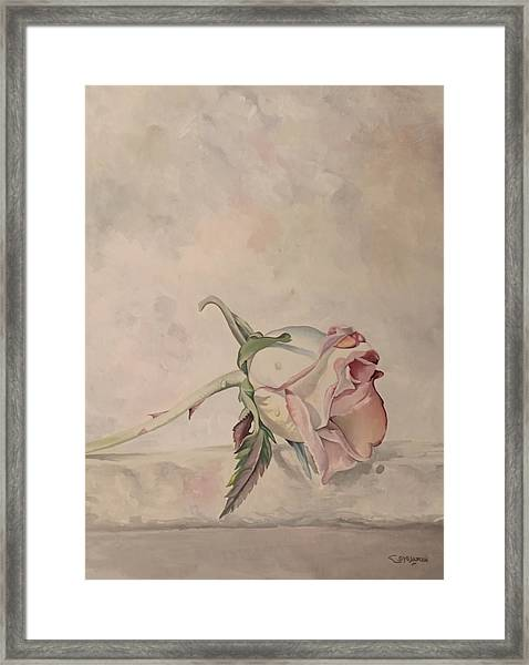 Framed Print featuring the painting Flower by Said Marie