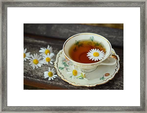 Flower Tea Framed Print