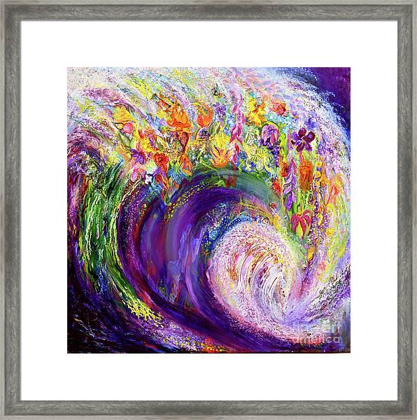 Flower Wave Framed Print