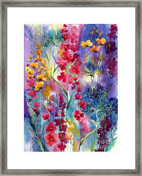 Flowers Fairy Tale Framed Print