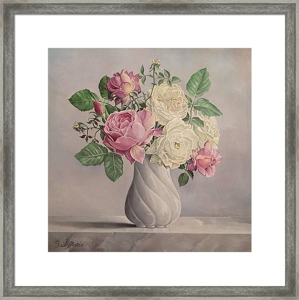 Framed Print featuring the painting Flowers by Said Marie