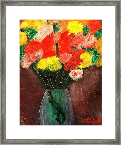 Flowers Still Life Framed Print