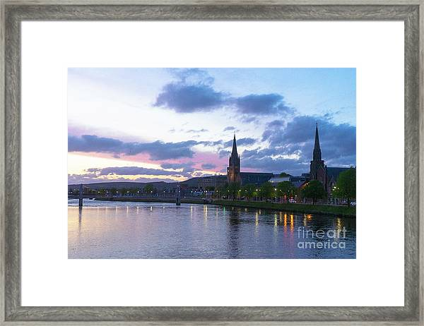 Flowing Down The River Ness Framed Print