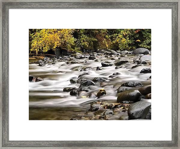Flowing Molalla Framed Print