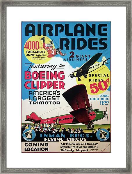 Flying Circus 1929 Framed Print