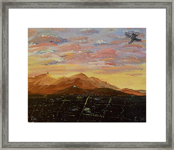 Flying Over Tucson Framed Print