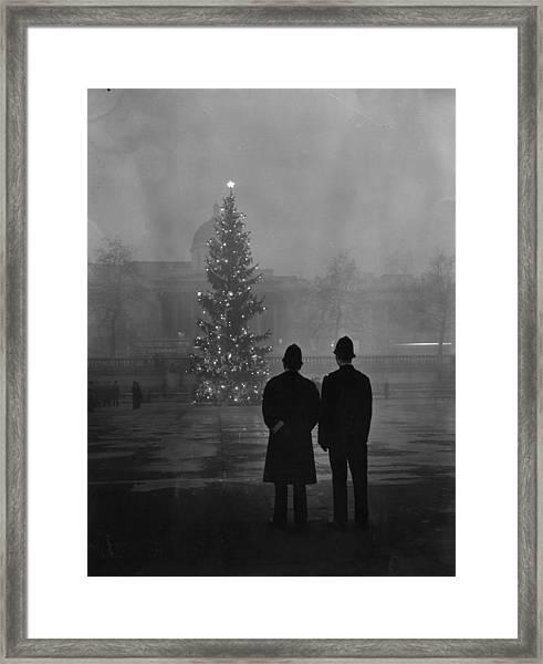 Foggy Christmas Framed Print by Warburton