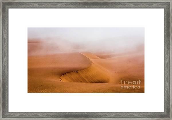 Foggy Namib Desert Framed Print