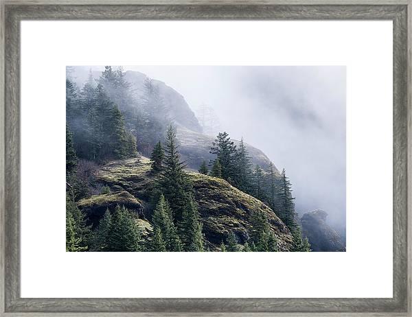 Foggy On Saddle Mountain Framed Print