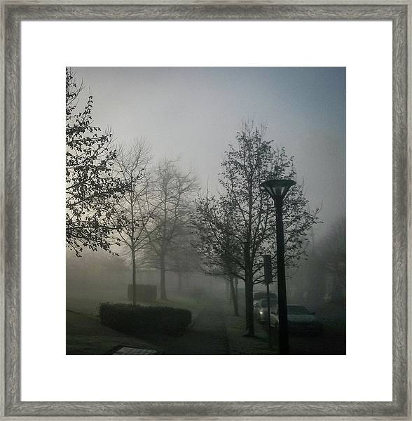 Framed Print featuring the photograph Foggy Street by Juan Contreras