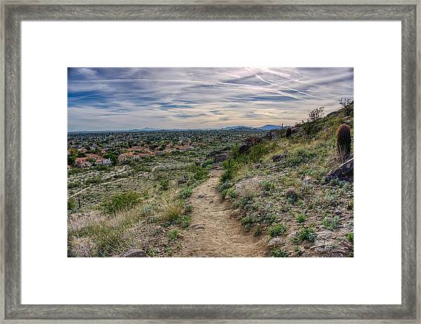 Following The Desert Path Framed Print