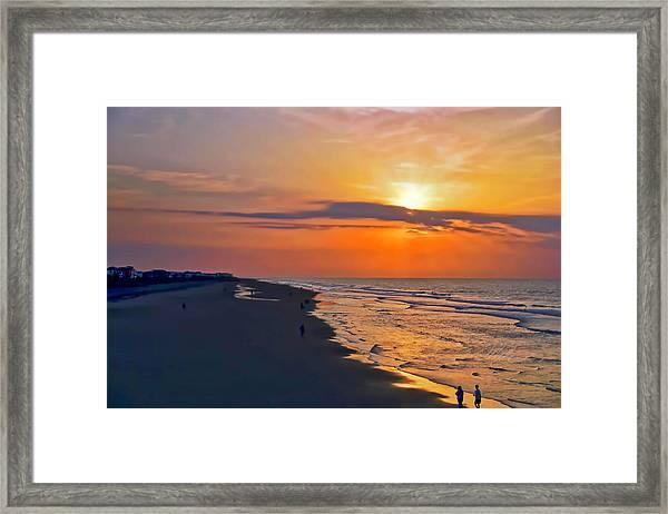Folly Beach Sunrise Framed Print