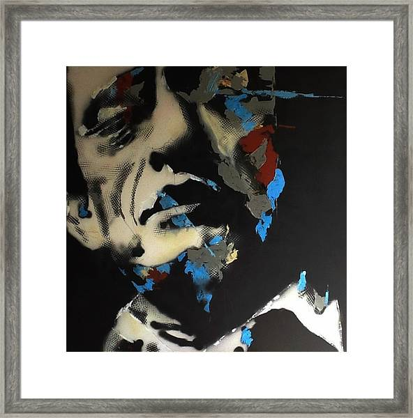 Folsom Blues _ Johnny Cash  Framed Print