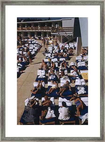 Fontainebleau Hotel Guests Framed Print