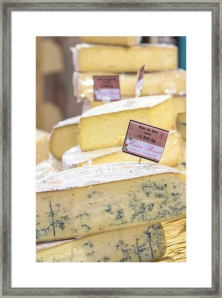 Food Cheese, Food Market, Dijon Framed Print by Jim Engelbrecht