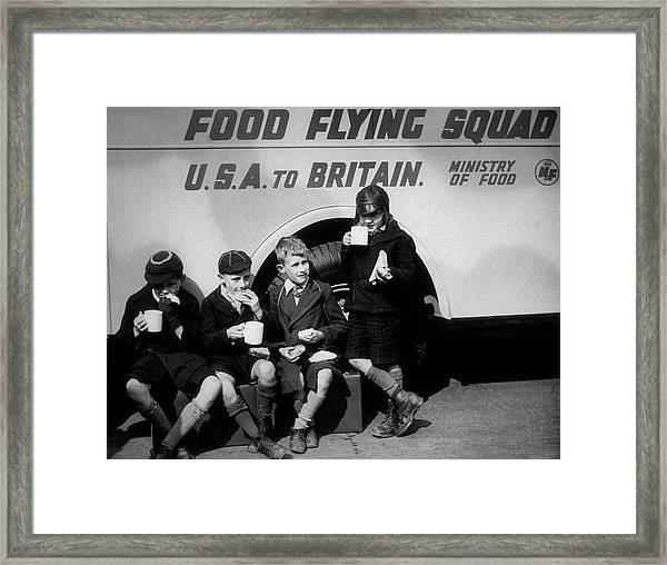 Food Flying Squad Framed Print