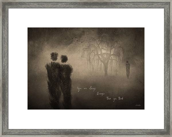 For Those Who Weep Framed Print by Norma Slack