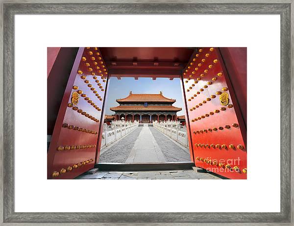 Forbidden City In Beijing , China Framed Print