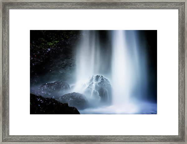 Framed Print featuring the photograph Force Of Water by Dee Browning
