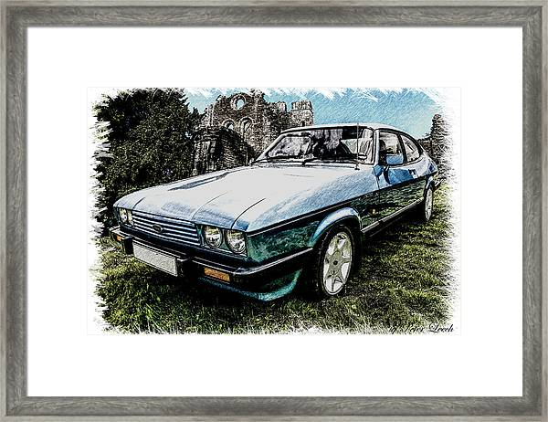 Ford Capri 3.8i Pencil V2 Framed Print