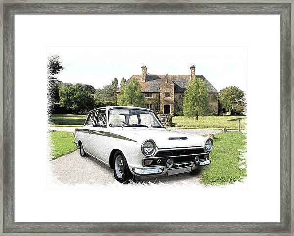 Ford 'lotus' Cortina Framed Print