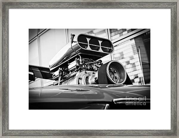 Ford Mustang Vintage Motor Engine Framed Print