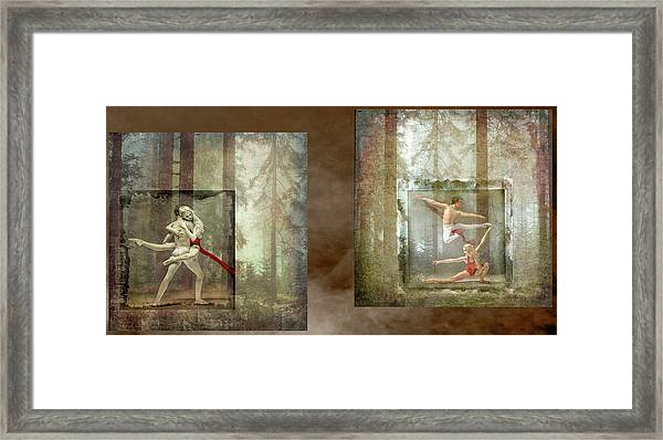 Forest Dancers Framed Print