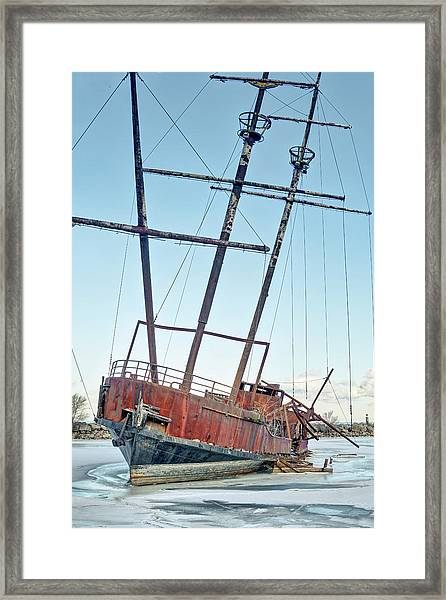 Forgotten Landmark Framed Print