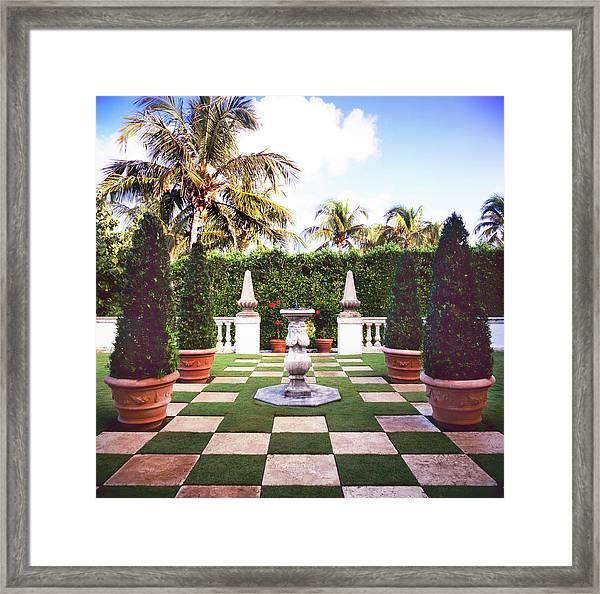 Formal Garden Framed Print