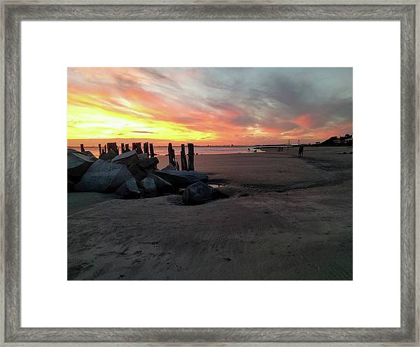 Fort Moultrie Sunset Framed Print