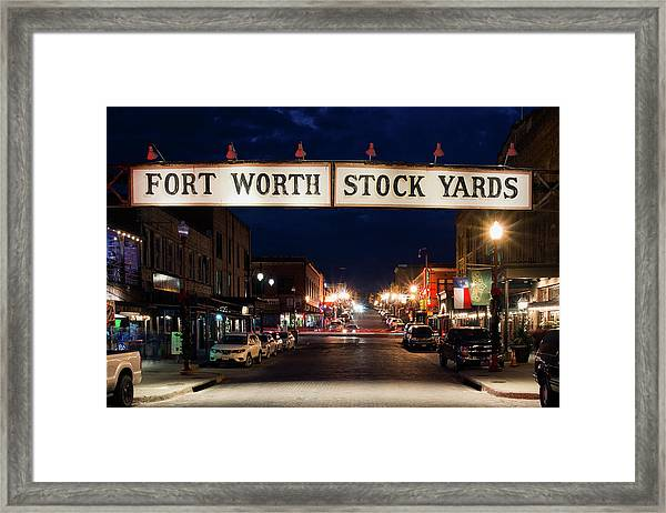 Fort Worth Stock Yards 112318 Framed Print
