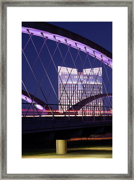 Fort Worth West Seventh Street Bridge V2 021419 Framed Print